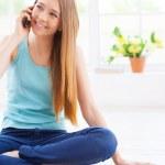 Teenage girl talking on mobile phone — Stock Photo #46240451
