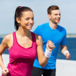 Woman and man running — Stock Photo #46563173