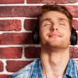 Man listening to the MP3 Player — Stock Photo