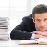 Overworked man in formal wear — Stock Photo #47319809