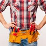Handyman with tool belt — Stock Photo #47319939
