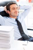 Businessman day dreaming. — Stock Photo
