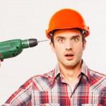Shocked young handyman — Stock Photo #47320021