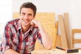 Handsome young handyman — Stock Photo