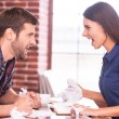 Angry man and woman shouting at each other — Stock Photo #47718137