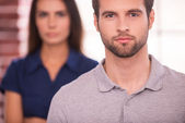 Young and successful man and woman — Stock Photo