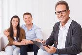 Confident family psychologist. — Stock Photo