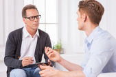 Consulting with expert. — Stock Photo