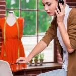 Busy fashion designer. — Stock Photo #48061763
