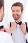 Happy groom. — Stock Photo