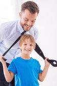 Playful father and son. — Stock Photo
