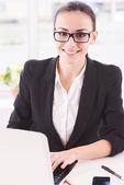 Businesswoman at work. — Stock Photo
