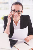 Confident businesswoman at work. — Stock Photo