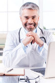 Grey hair doctor — Stock Photo