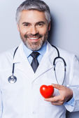 Confident cardiologist. — Stock Photo