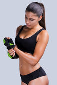 Sporty woman with perfect body — Stock Photo