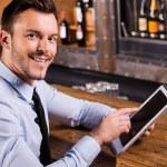 Businessman in bar. — Stock Photo #49601449