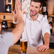 Customer talking to bartender — Stock Photo #49602581