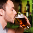 Man drinking beer — Stock Photo #49602683