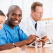 Cheerful doctor at the meeting. — Stock Photo #49924499