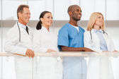 Confident team of medical experts. — Stock Photo