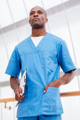 Confident and concentrated surgeon. — Stock Photo