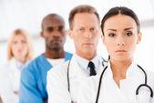 Confident doctors team. — Stock Photo