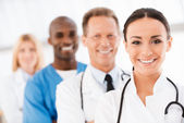Confident doctors team. — Stock Photo