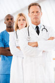Confident doctors team. — Stockfoto
