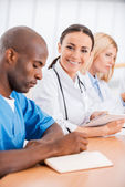 Doctors at the meeting. — Stock Photo