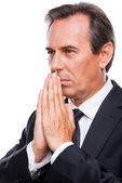 Thoughtful mature businessman in formal wear — Stock Photo