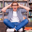 Shocked young man shouting — Stock Photo #50630467