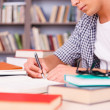 Confident young man making research — Stock Photo #50630657