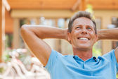 Relaxed mature man — Stock Photo