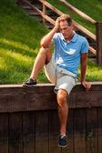 Depressed mature man — Stock Photo