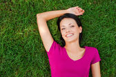 Woman in grass. — Stock Photo