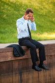 Empresário deprimido. — Fotografia Stock
