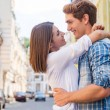 Loving couple hugging and looking at each — Stock Photo #51475229