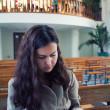 Reading prayer in church — 图库照片