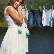 Serenity of a pregnant lady — Stock Photo