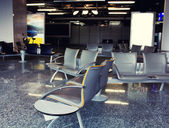 Empty airport waiting area — Stock Photo