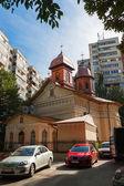 Igreja com telhado de cobre — Foto Stock