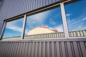 Industrial hall window — Stock Photo
