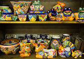Colorful mexican pottery — Stock Photo
