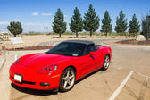 Red convertible sports car — Stock Photo