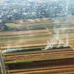 Smoking field - top view — Stock Photo #36809363