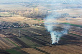 Burning vegetation seen from above — Stock Photo