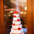 Stock Photo: Decorated five floors cake