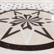 Star marble pavement — Stock Photo
