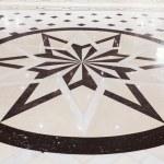 Star marble pavement — Stock Photo